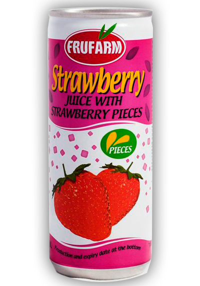 Strawberry with pieces